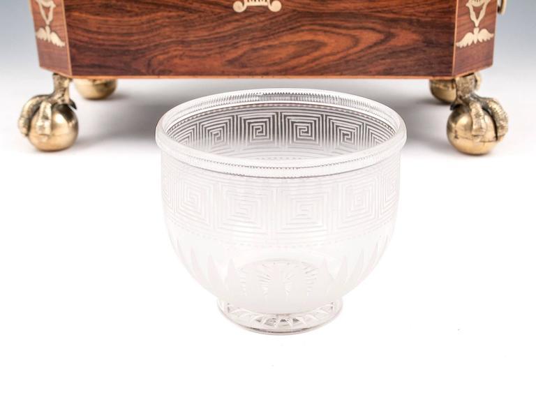 Kingwood and Brass Pagoda Top Regency Tea Chest Tea Caddy For Sale 3