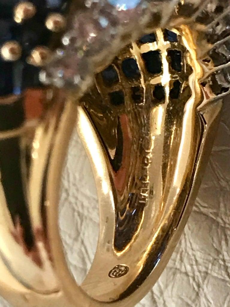Oscar Heyman American Sapphire and Diamond Ring Mounted in 18-Karat Gold For Sale 1