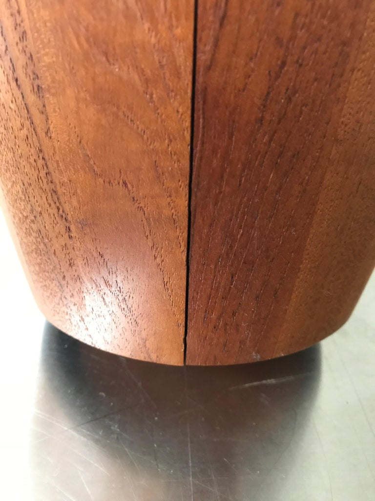 Mid-20th Century Midcentury Large Teak Ice Bucket by Jens Quistgaard for Dansk, Denmark For Sale