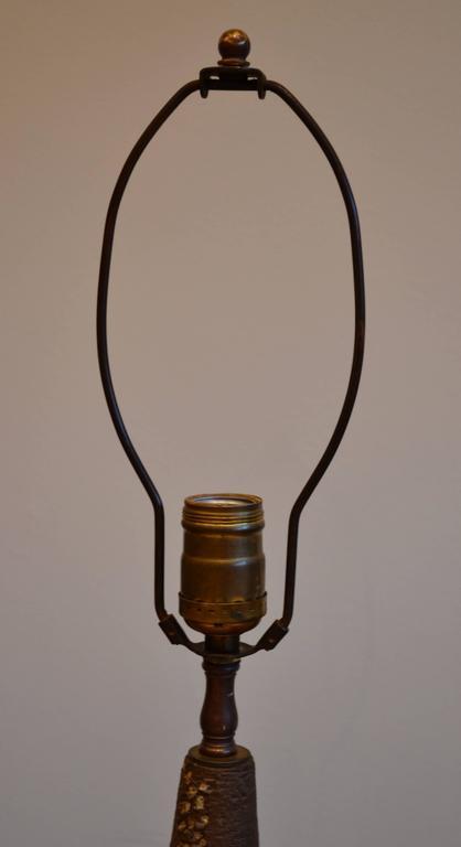 Mid Century Modern Handmade Ceramic Stoneware Table Lamp