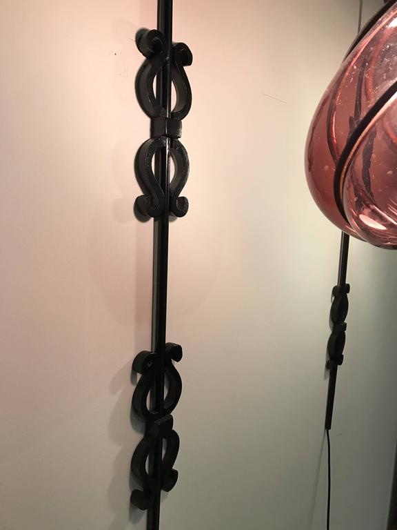 Pair of seguso murano caged amethyst glass and wrought iron wall gothic revival pair of seguso murano caged amethyst glass and wrought iron wall sconces italy aloadofball Choice Image