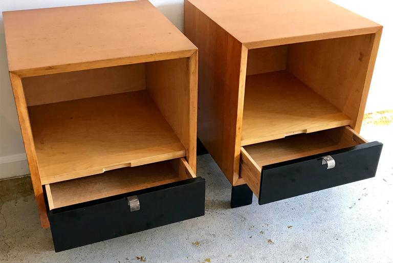 Pair Of George Nelson For Herman Miller Nightstands Mid
