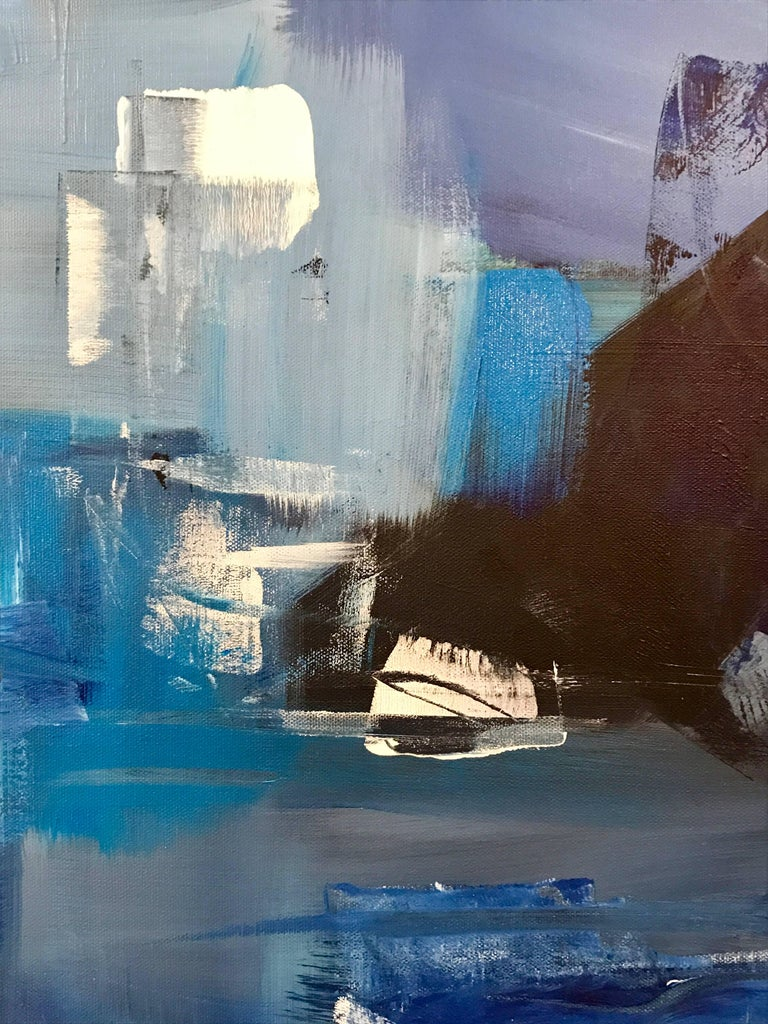 """Rebecca Ruoff, """"Holiday"""", Large Blue Abstract Painting, 2017 3"""