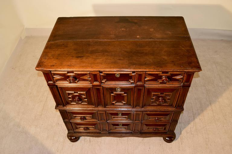18th Century and Earlier 17th Century Geometric Chest of Drawers For Sale