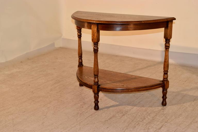 19th century english demi lune table for sale at 1stdibs - Table demi lune murale ...