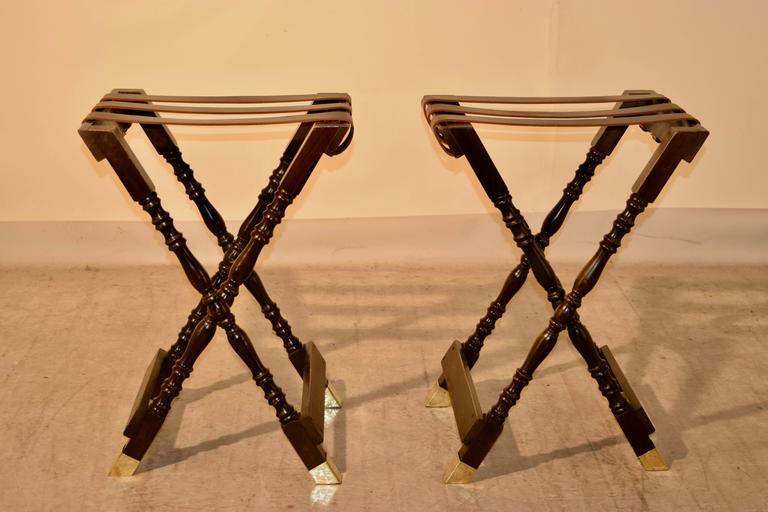 Edwardian Pair of Mahogany Tray Stands, circa 1920 For Sale
