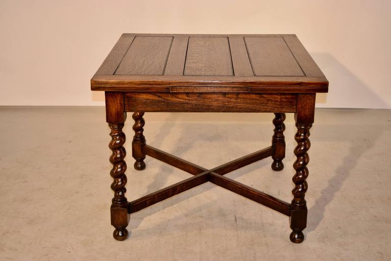 English Oak Draw Leaf Table Circa 1900 At 1stdibs