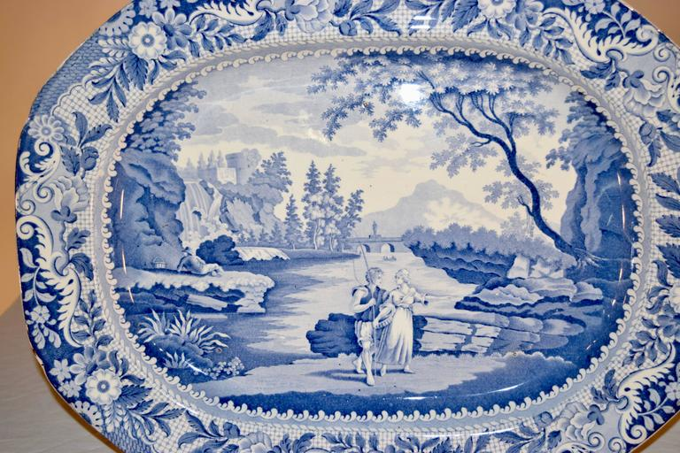 19th century platter in the