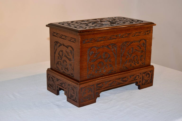 Late Victorian Late 19th Century Miniature Blanket Chest For Sale
