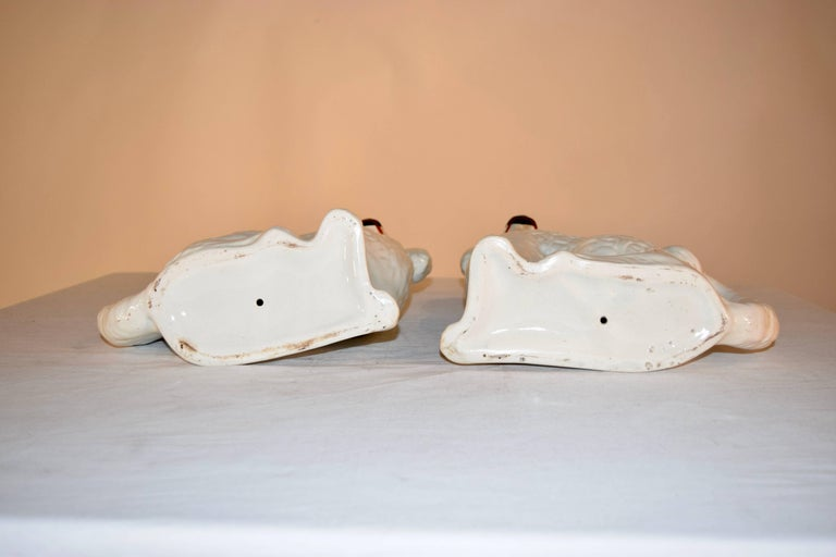 Victorian Pair of 19th Century Staffordshire Dogs For Sale