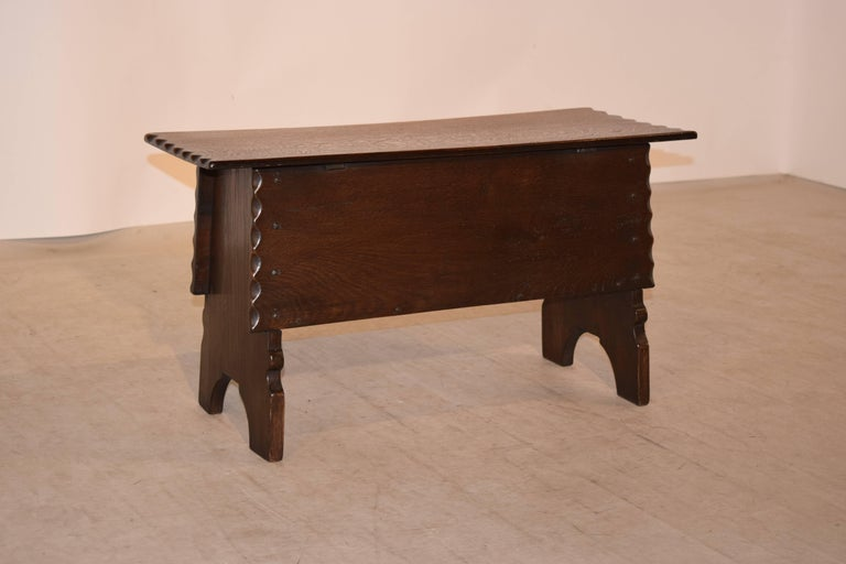 Oak 19th Century Lift Top Bench For Sale