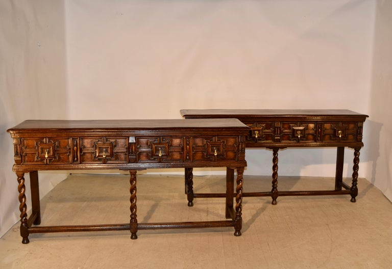 Victorian Pair of 19th Century English Geometric Sideboards For Sale