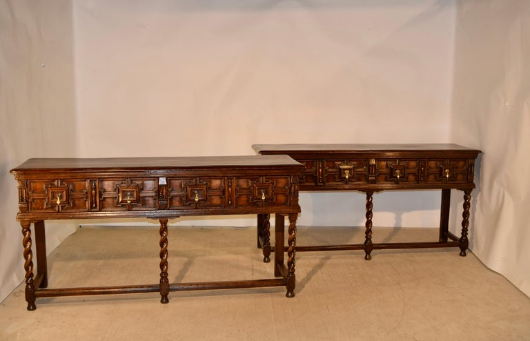 Pair of 19th Century English Geometric Sideboards In Good Condition For Sale In High Point, NC