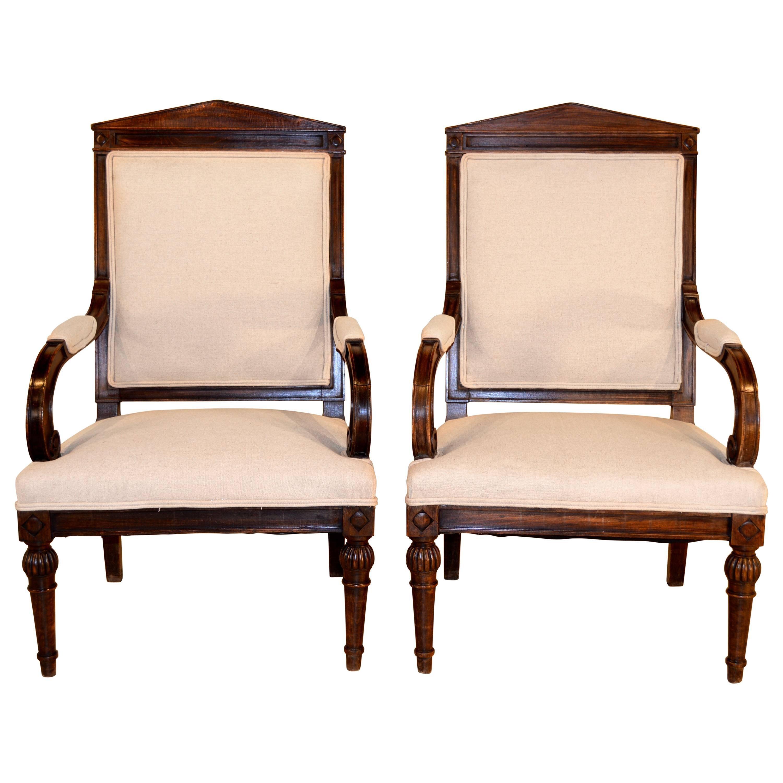 19th Century Pair of English Armchairs