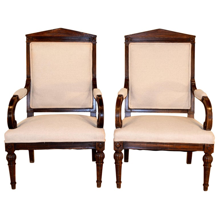 19th Century Pair of English Armchairs