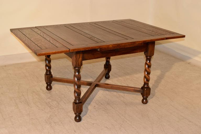 19th century english oak drawleaf table for sale at 1stdibs for Table insert th
