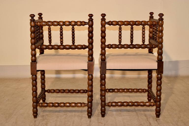 Napoleon III Pair of 19th Century Corner Chairs For Sale