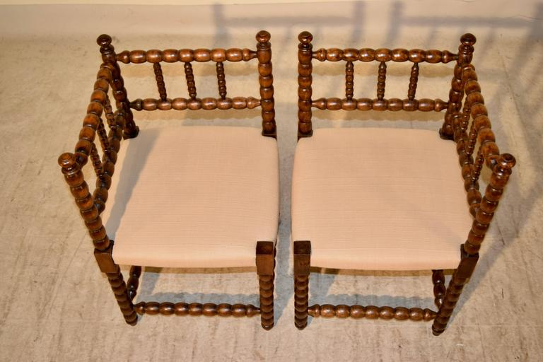 French Pair of 19th Century Corner Chairs For Sale