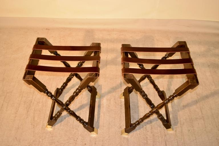 English Pair of Mahogany Tray Stands, circa 1920 For Sale