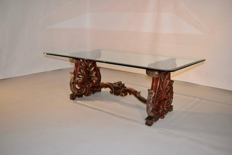 Baroque 19th Century Italian Painted Coffee Table For Sale