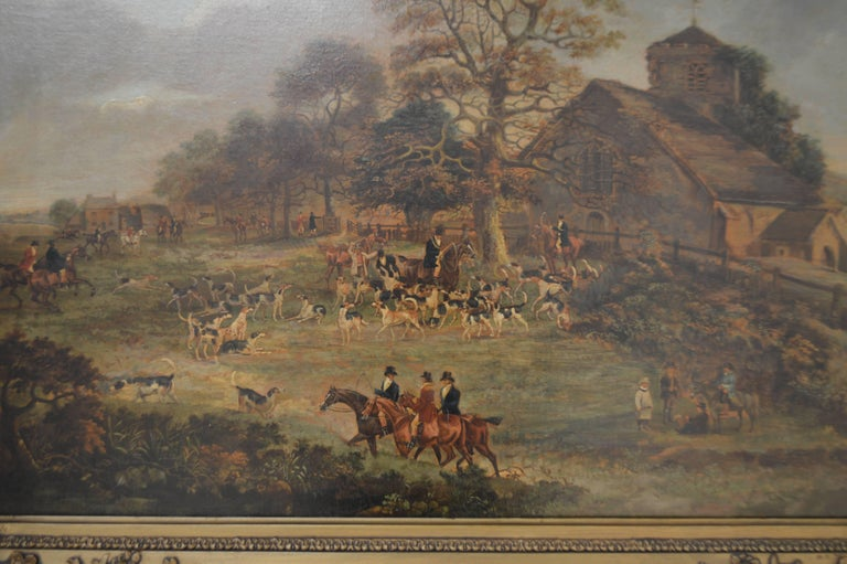 19th Century English Hunt Painting by Wolstenholme In Good Condition For Sale In High Point, NC