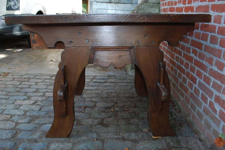 18th Century Swiss renaissance banker or merchant table in walnut dating circa 1750 For Sale