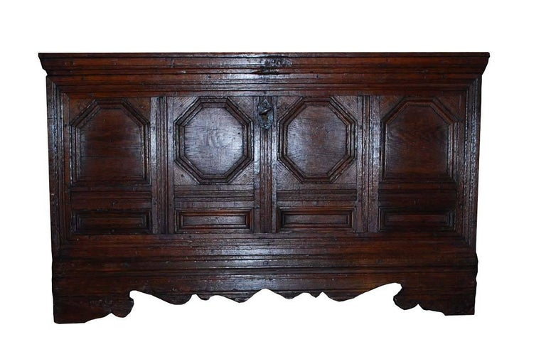 18th century German chest made from oakwood.