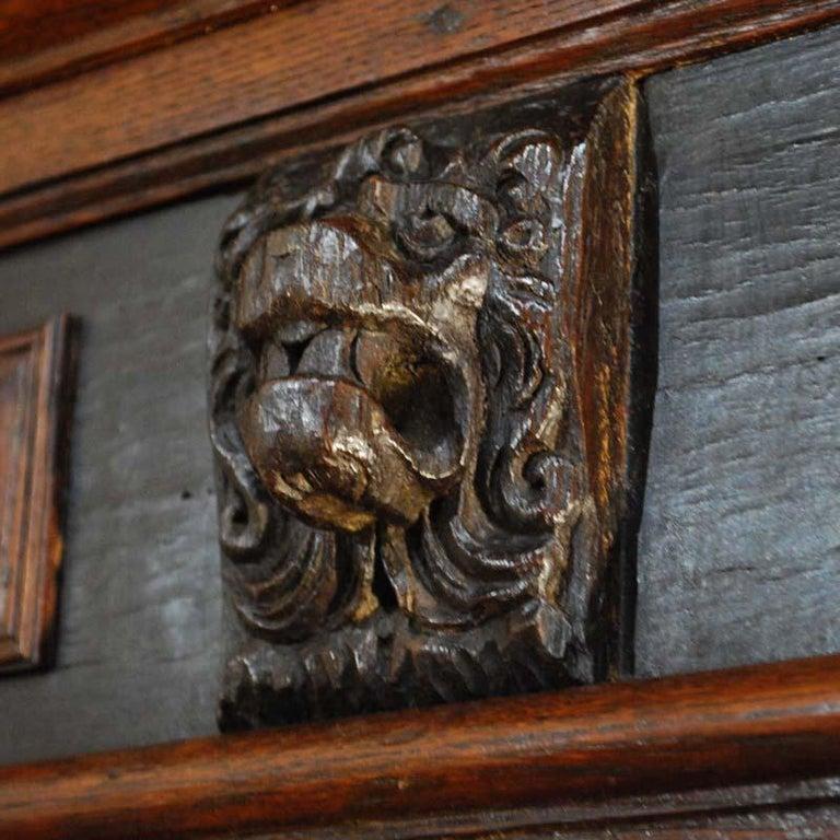 17th Century Dutch Renaissance Oak and Ebony Two-Door Cabinet For Sale 2
