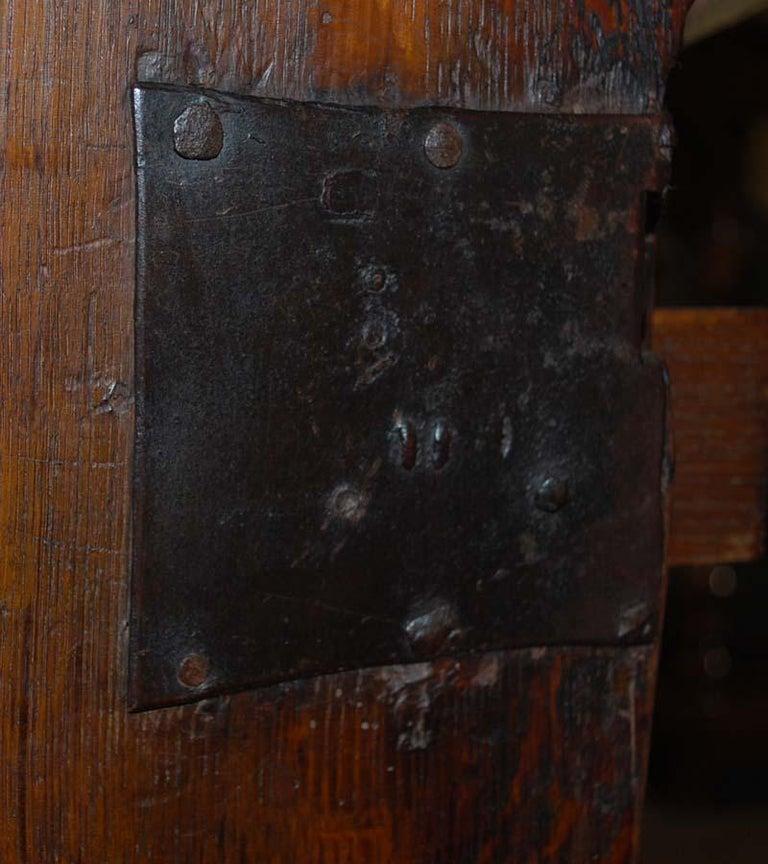 17th Century Dutch Renaissance Oak and Ebony Two-Door Cabinet For Sale 6