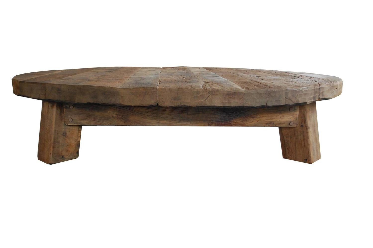 Extremely Large And Heavy Oakwood Coffee Table Low Table For Sale At 1stdibs