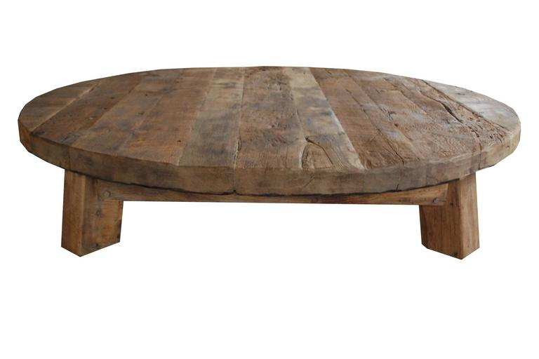 Extremely large and heavy oakwood coffee table low table for Large low coffee table