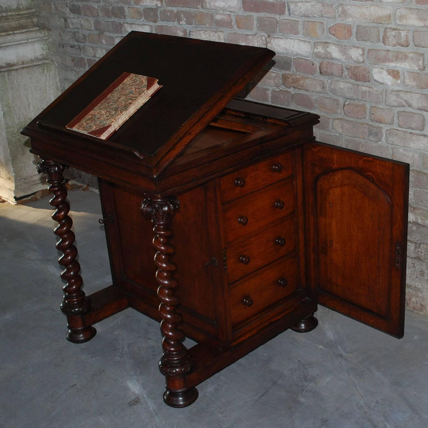 19th Century Oakwood Lectern Made By Robert Strahan For Sale At 1stdibs