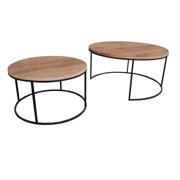 Round Coffee Table Dimensions: Contemporary Pair Of Coffee Tables Round For Sale At 1stdibs