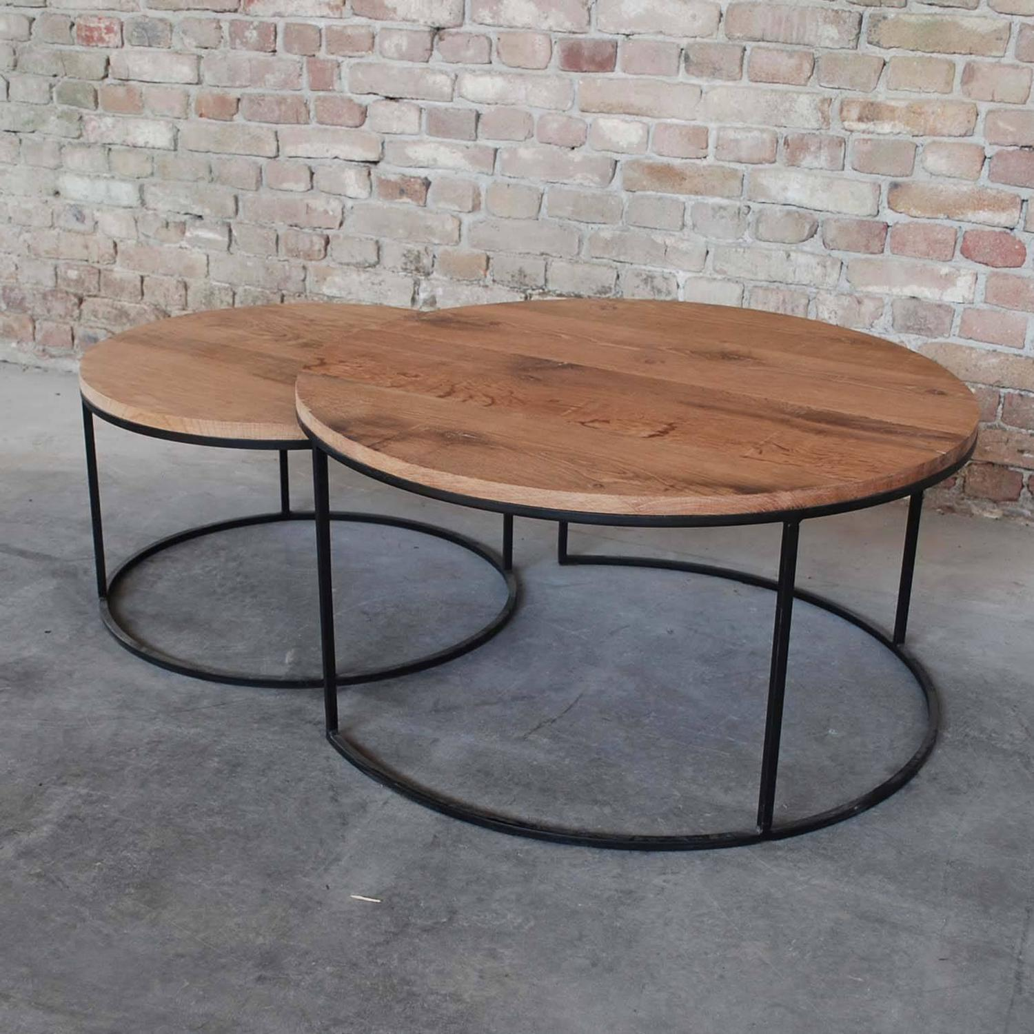 Round 3 Round Coffee Table Made Of Metal Cm ø80x23h: Contemporary Pair Of Coffee Tables Round For Sale At 1stdibs