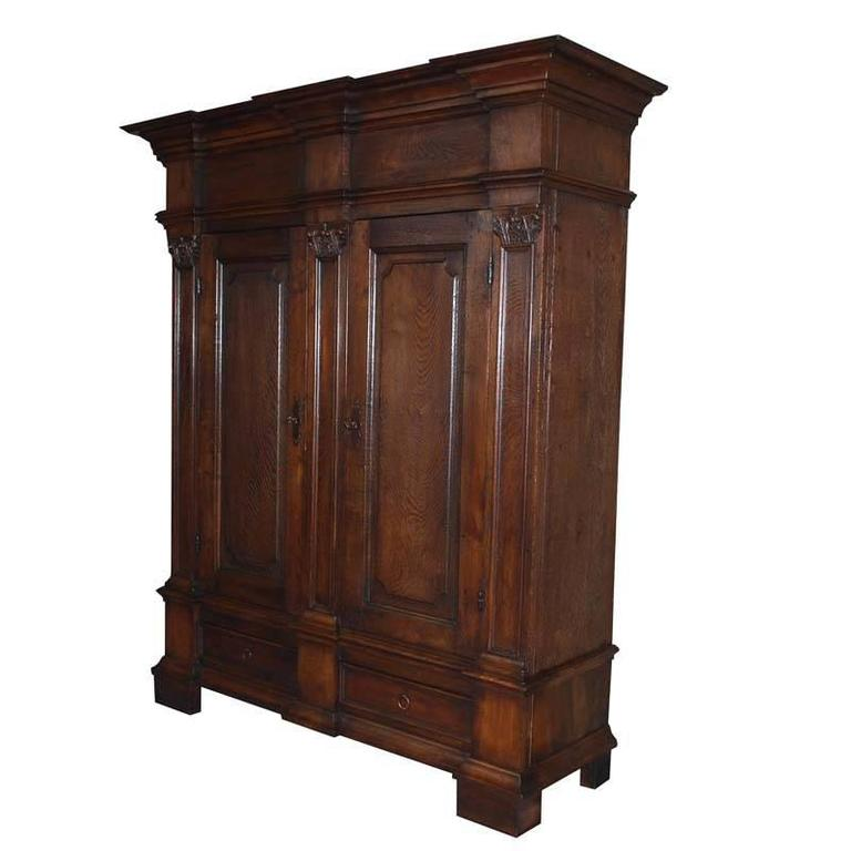 19th century oakwood german cabinet or wardrobe for sale for 19th century kitchen cabinets