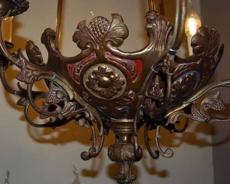 Pair of 19th Century Brass Chandeliers In Good Condition For Sale In Casteren, NL