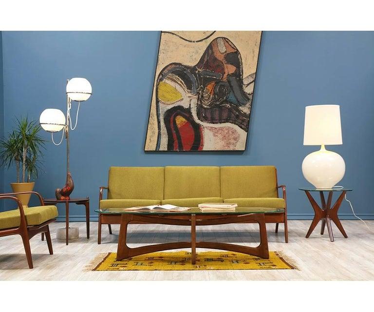 Adrian Pearsall Walnut Sofa for Craft Associates 2