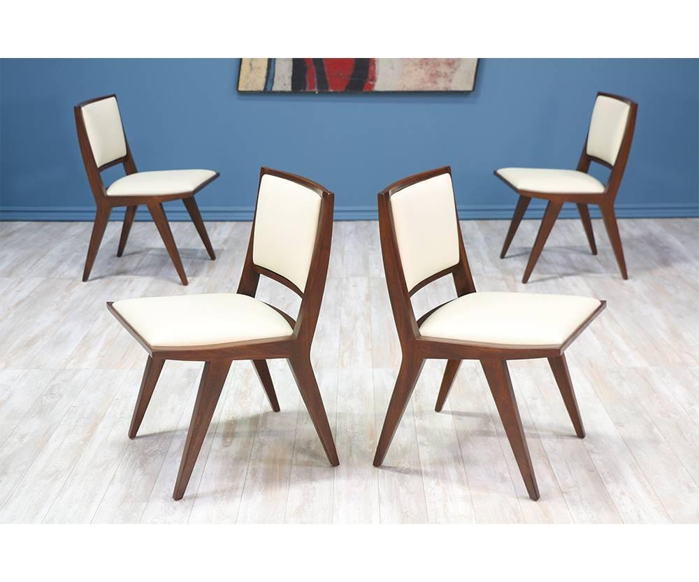 Rare Set Of 6 Dining Chairs Designed By Dan Johnson For Hayden Hall  Furniture In The