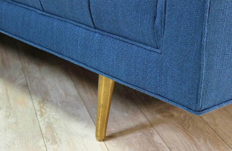 American Edward J. Wormley Model-5136 Sofa with Brass Legs for Dunbar For Sale