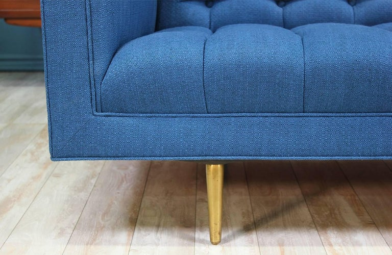 Edward J. Wormley Model-5136 Sofa with Brass Legs for Dunbar For Sale 1