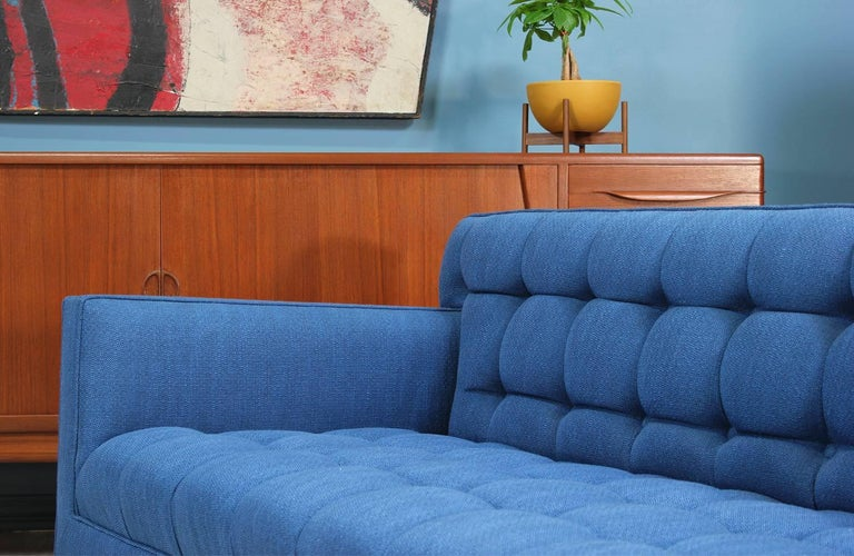 Edward J. Wormley Model-5136 Sofa with Brass Legs for Dunbar In Excellent Condition For Sale In Los Angeles, CA