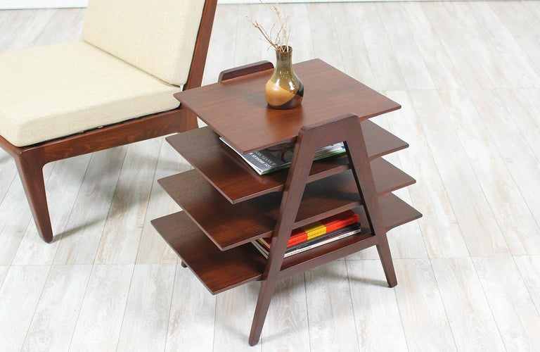 Mid-Century Modern Midcentury Tier Side Table For Sale