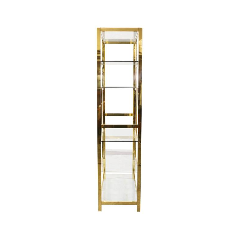 midcentury brass etagere display shelf unit for sale at. Black Bedroom Furniture Sets. Home Design Ideas