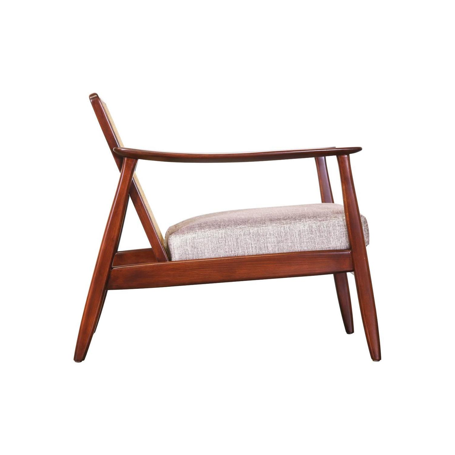 Folke Ohlsson Lounge Chair with Cane Backrest for Dux at