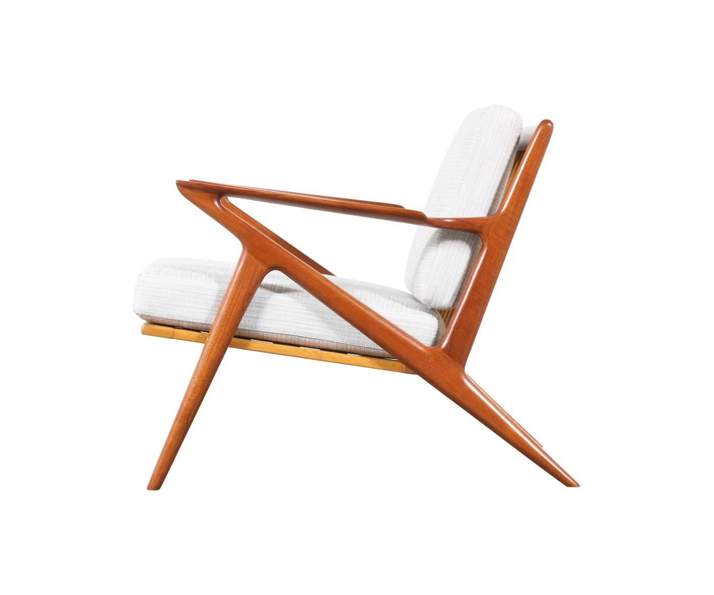 "Poul Jensen ""Z"" Teak Lounge Chair for Selig at 1stdibs"