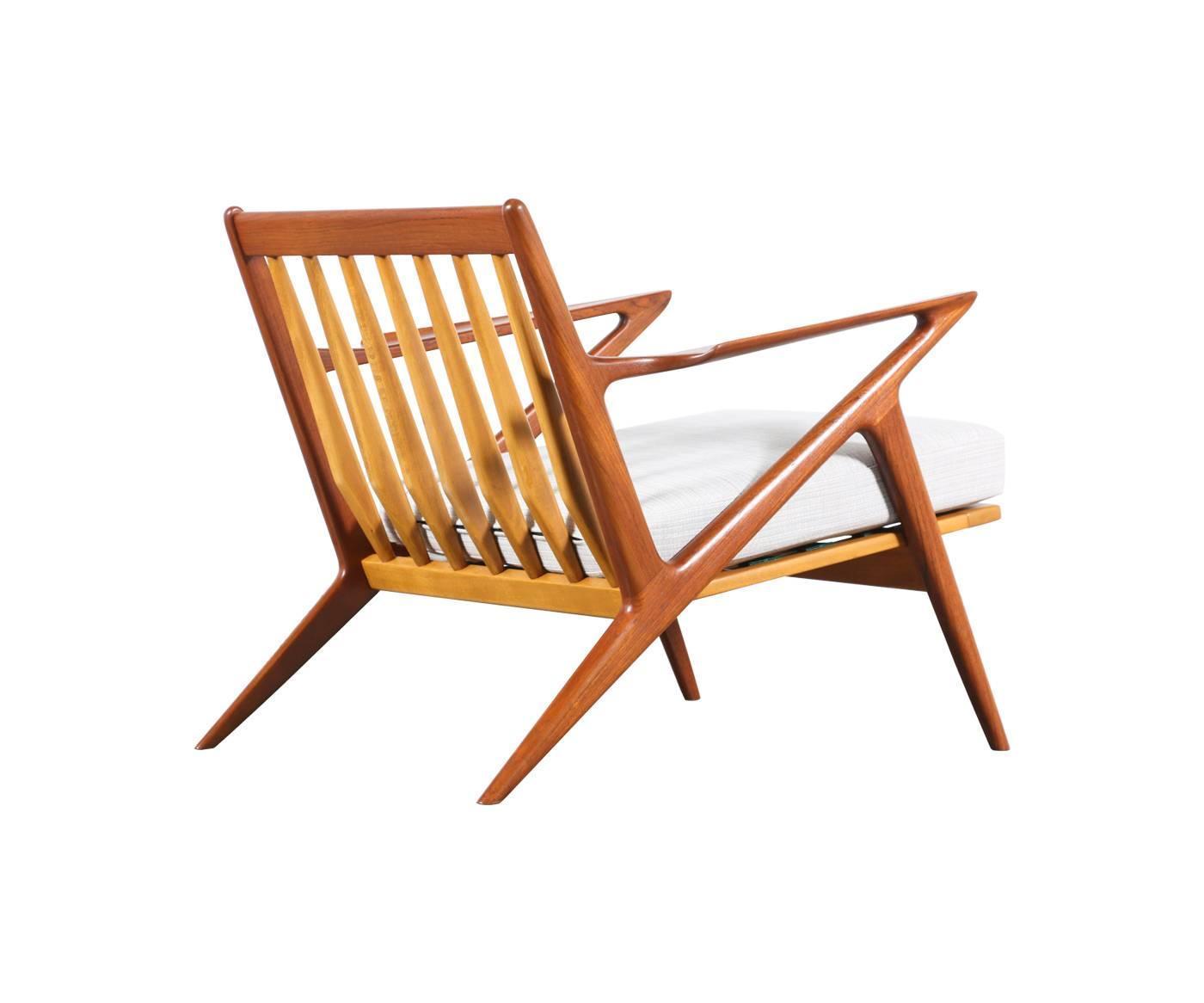 "Poul Jensen ""Z"" Teak Lounge Chair for Selig at 1stdibs"