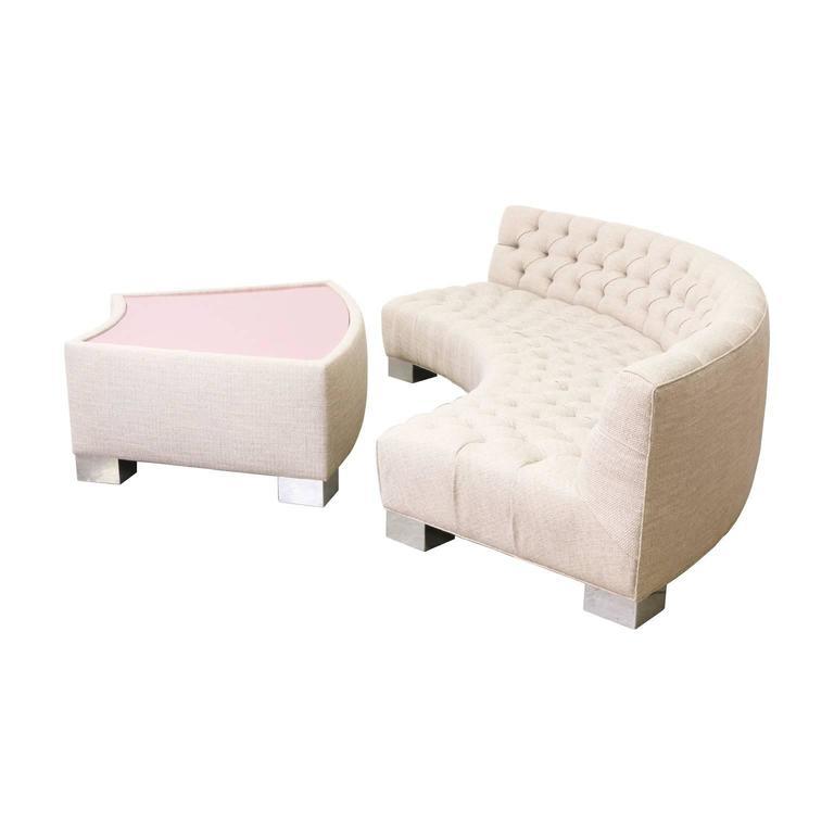 American Milo Baughman Tufted Sofa for Thayer Coggin For Sale