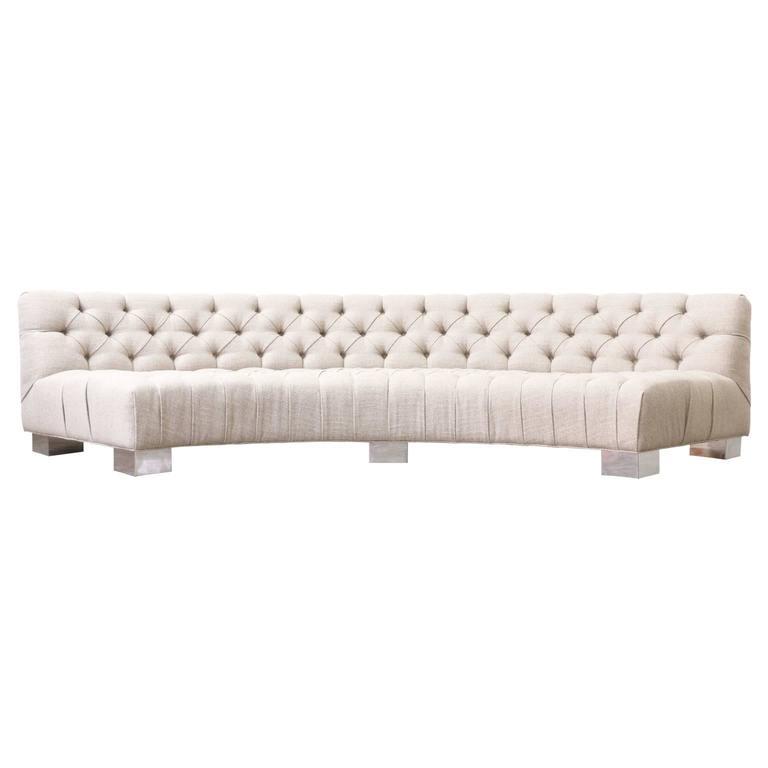 Late 20th Century Milo Baughman Tufted Sofa for Thayer Coggin For Sale