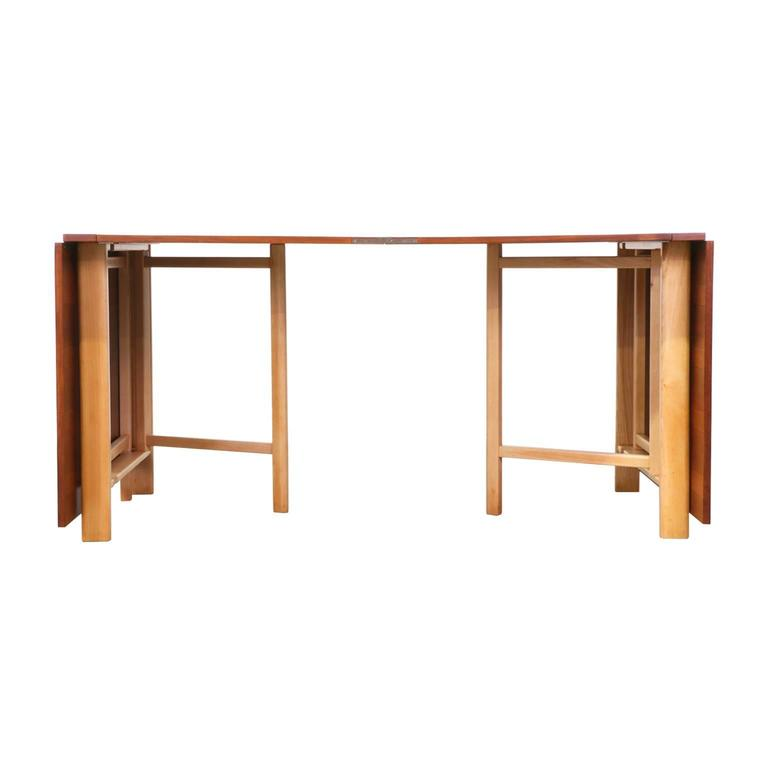 "Scandinavian Modern Bruno Mathsson ""Maria Flap"" Dining Table for Karl Mathsson For Sale"
