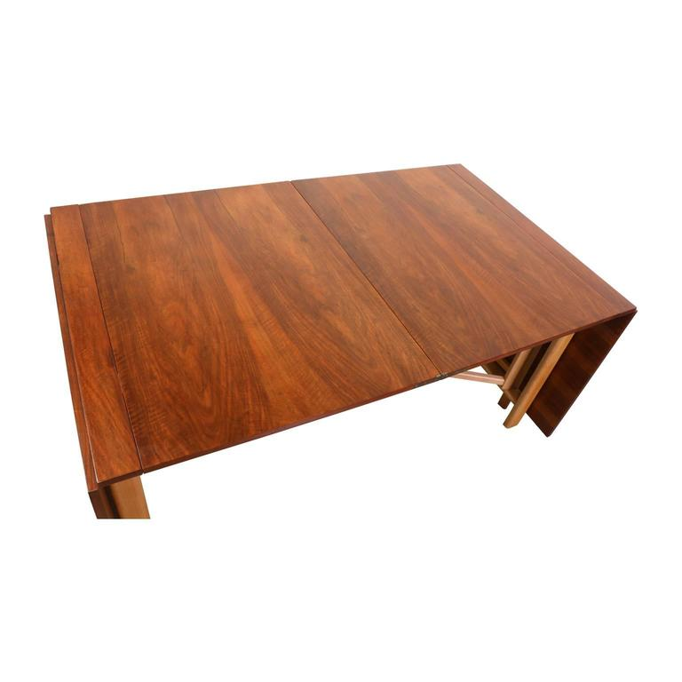 "Bruno Mathsson ""Maria Flap"" Dining Table for Karl Mathsson In Excellent Condition For Sale In Los Angeles, CA"